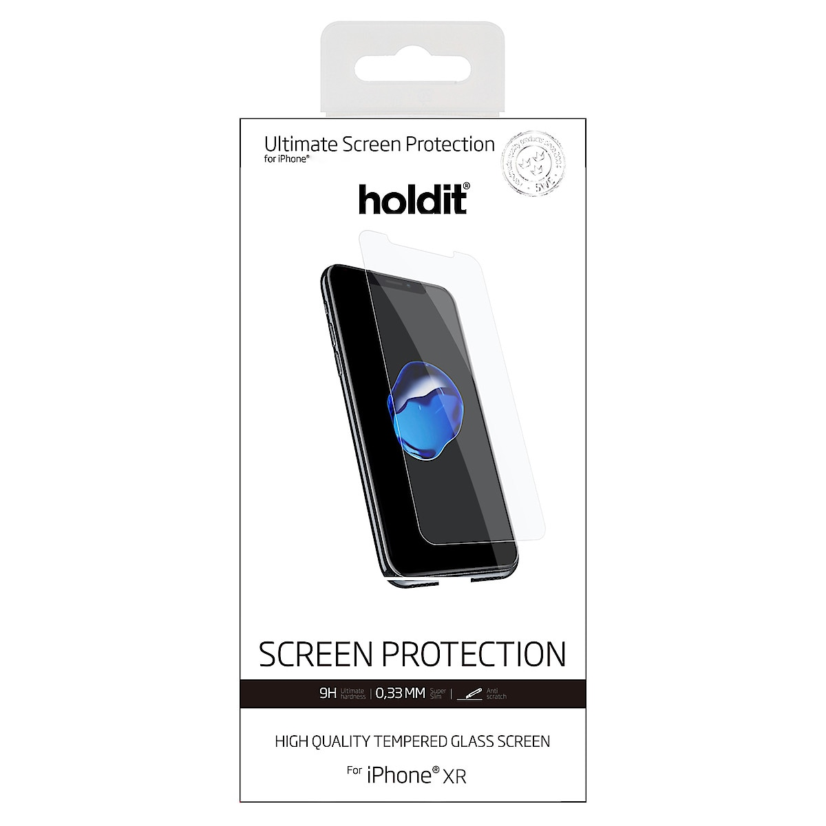 Näytönsuoja iPhone 11 ja iPhone XR, Holdit Tempered Glass