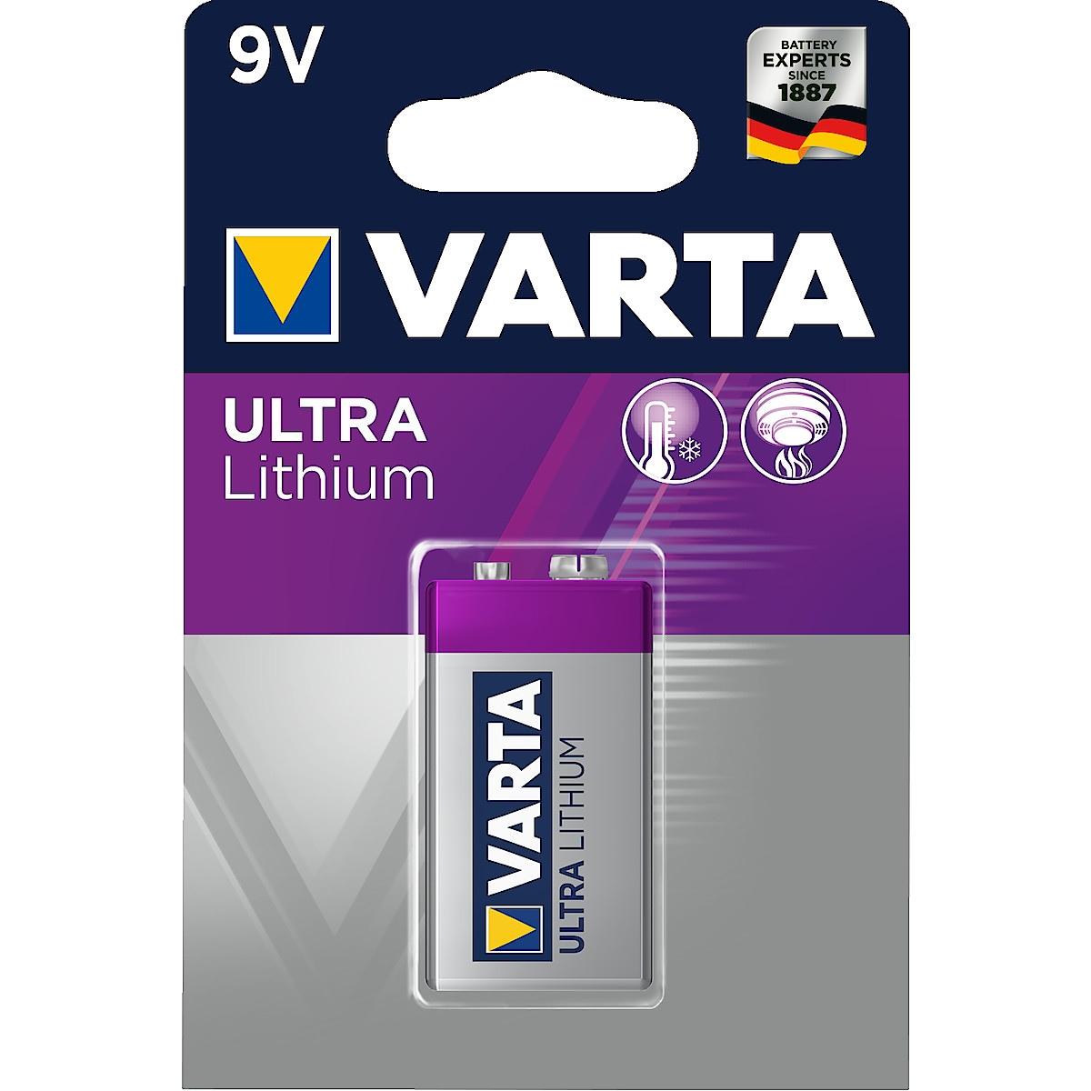 Litiumbatteri 9 V VARTA Ultra Lithium