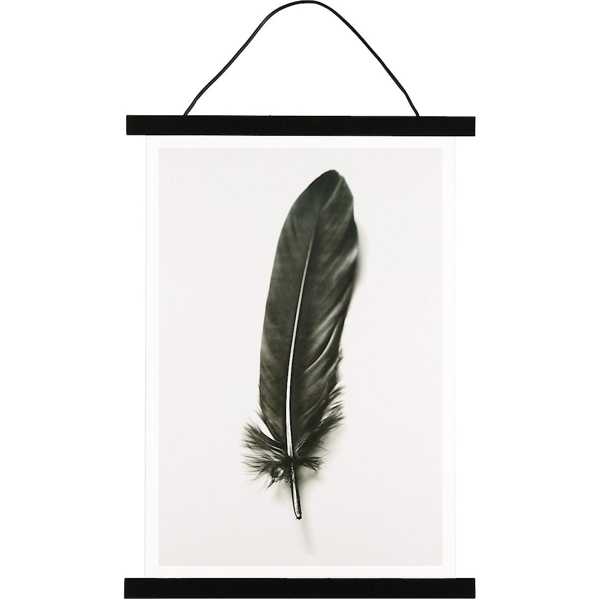 Affischlist med akrylglas svart