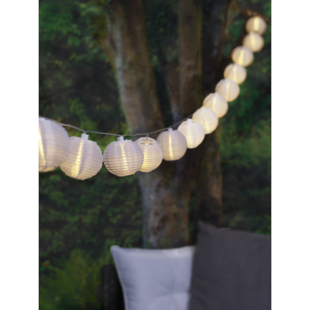 Solar Rice Paper Lantern String Light