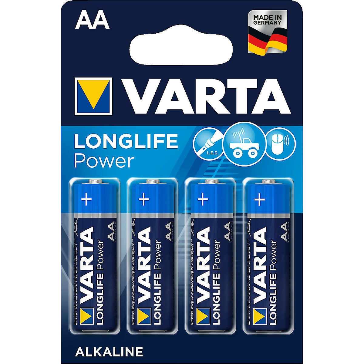 VARTA Longlife Power alkalisk batteri AA/LR6