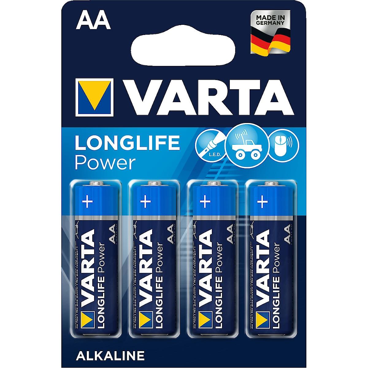 Alkaliskt batteri AA/LR6 Varta Longlife Power