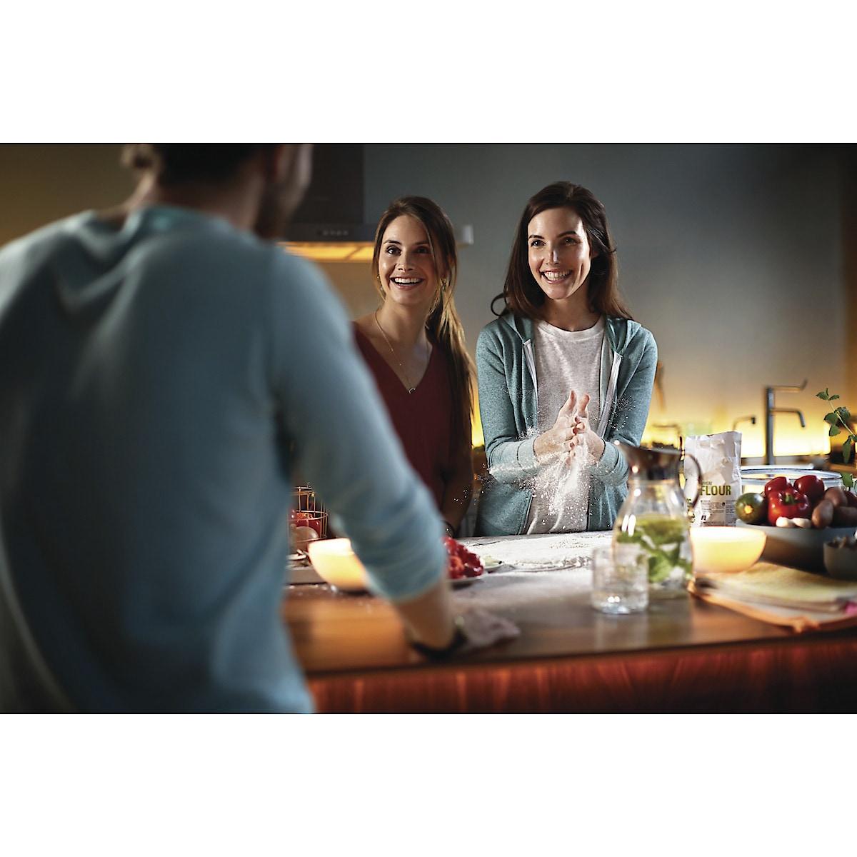 Philips Hue White Ambiance startpakke med Hue Bridge, LED-pærer og dimmere
