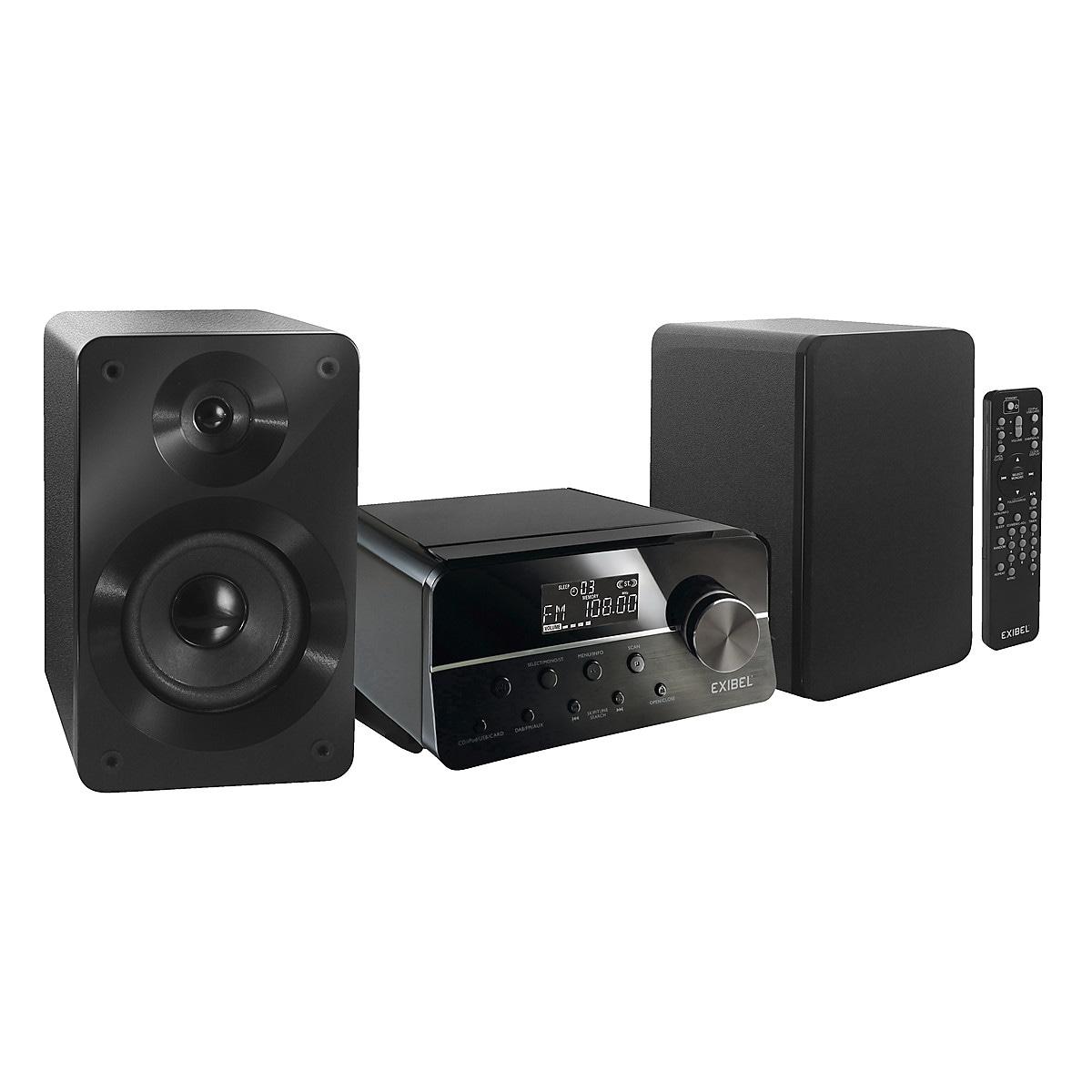 Exibel BDX600 musikkanlegg med Bluetooth og DAB+