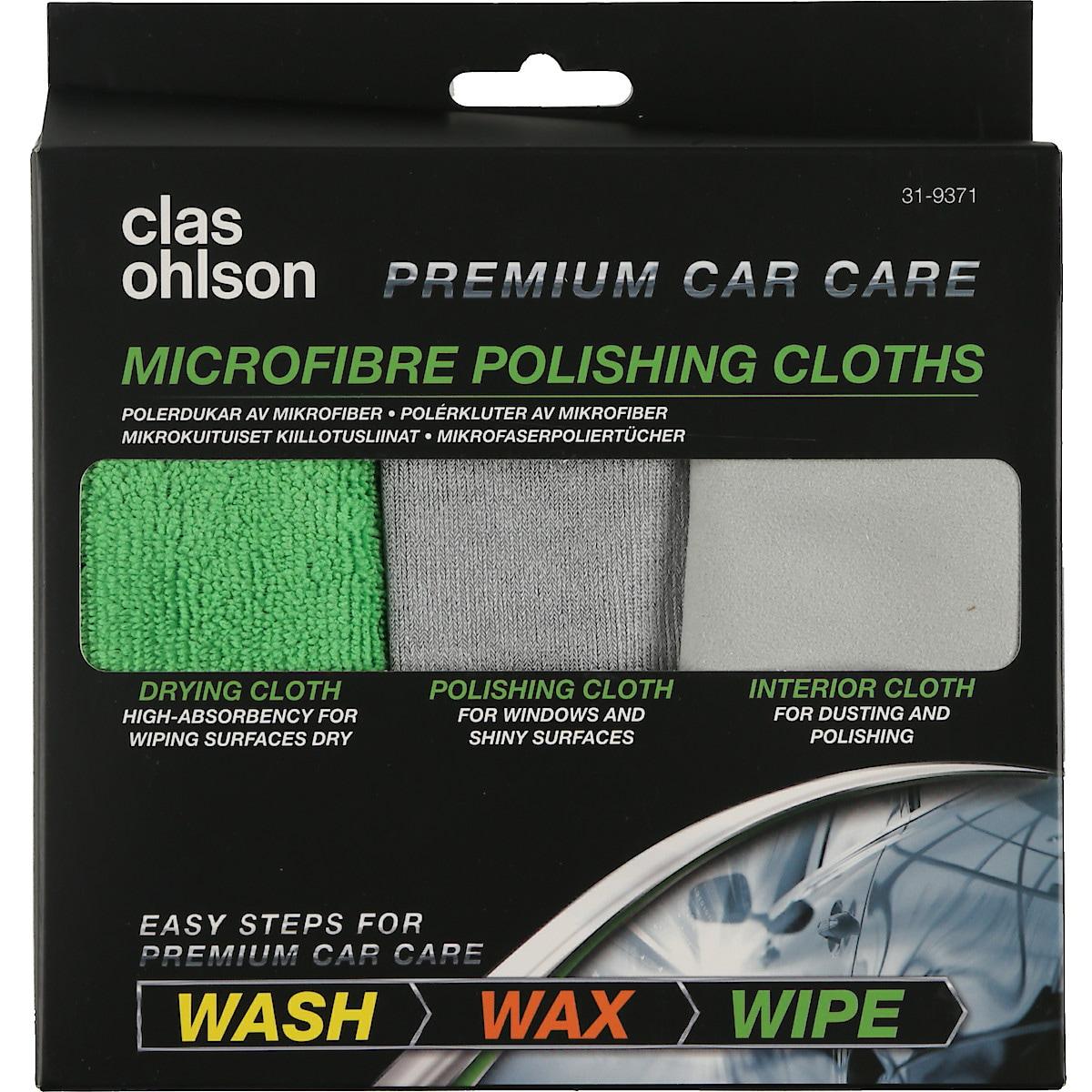 Set of 3 Microfibre Polishing Cloths
