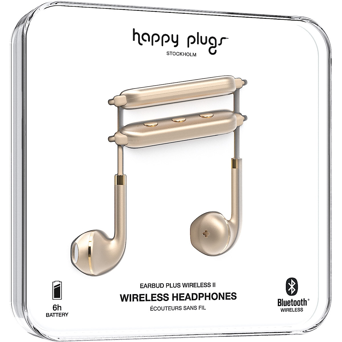 Langattomat mikrofonikuulokkeet Happy Plugs Earbud Plus Wireless II