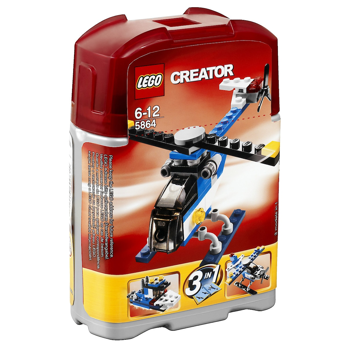 Lego tre-i-en minihelikopter