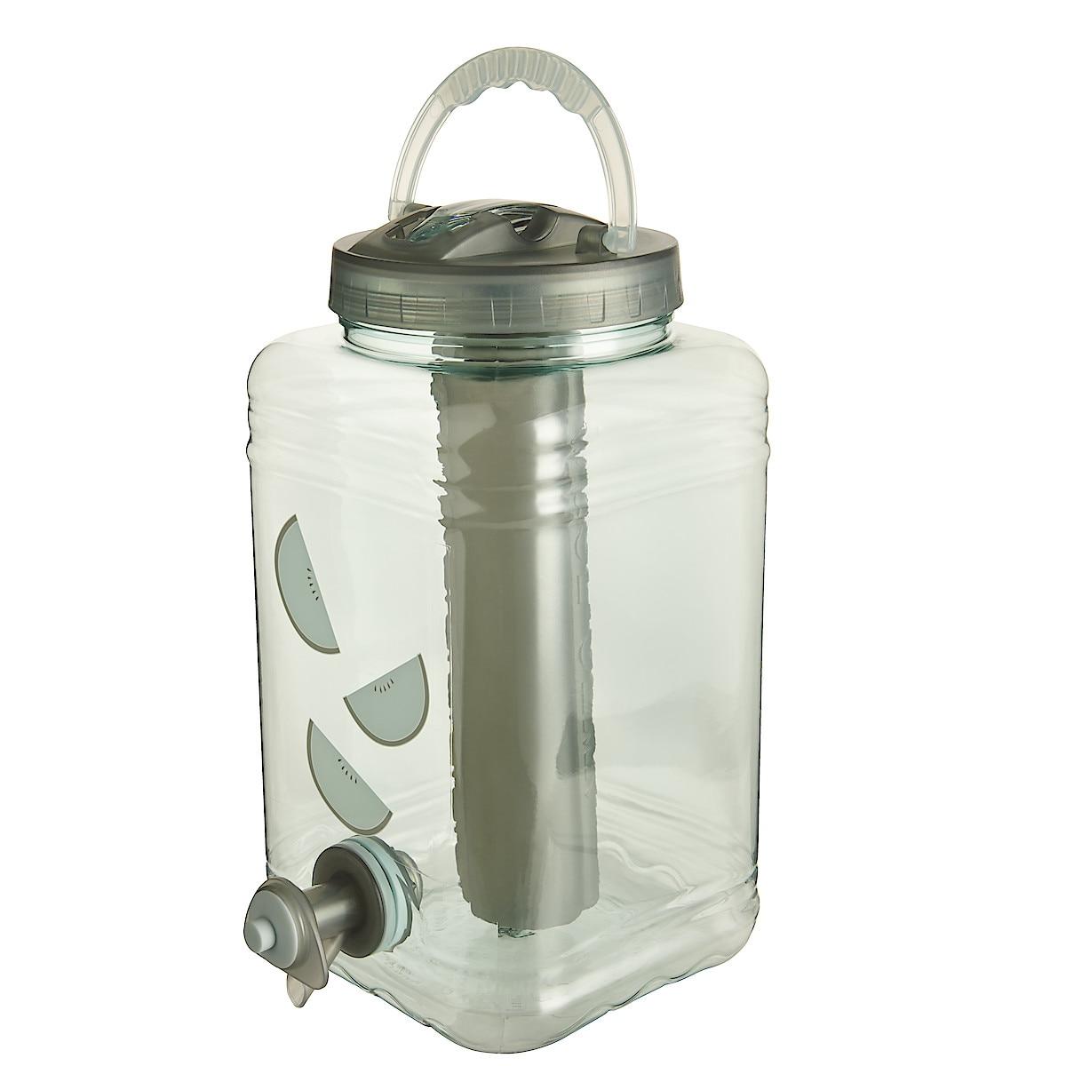 Vann-/saftbeholder med kjøleblokk