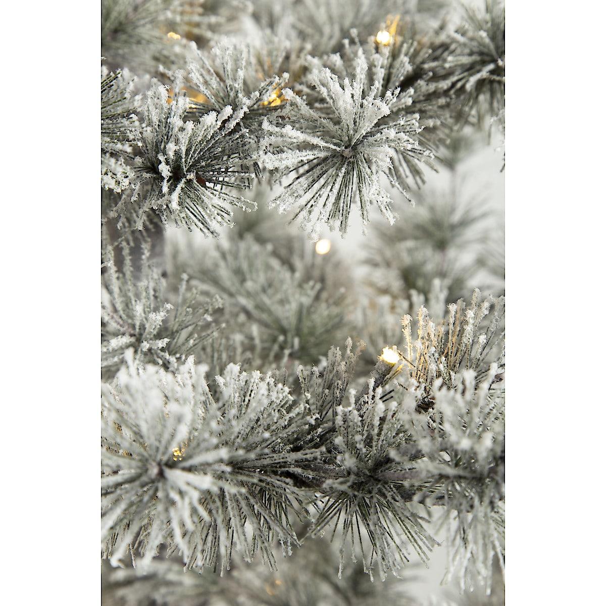 Frostad julgran med inbyggd belysning, 180 cm