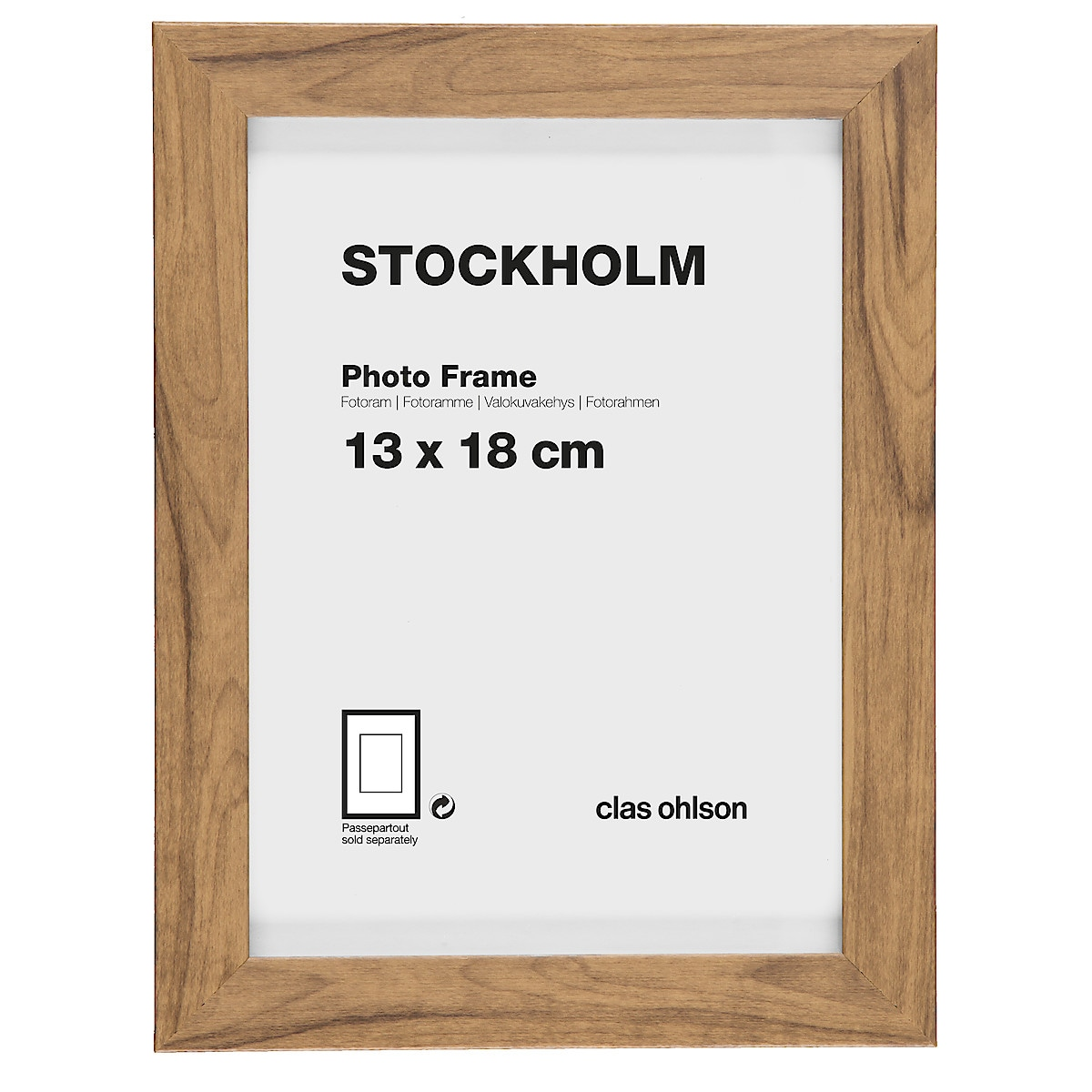 Stockholm photo frame – oak-look