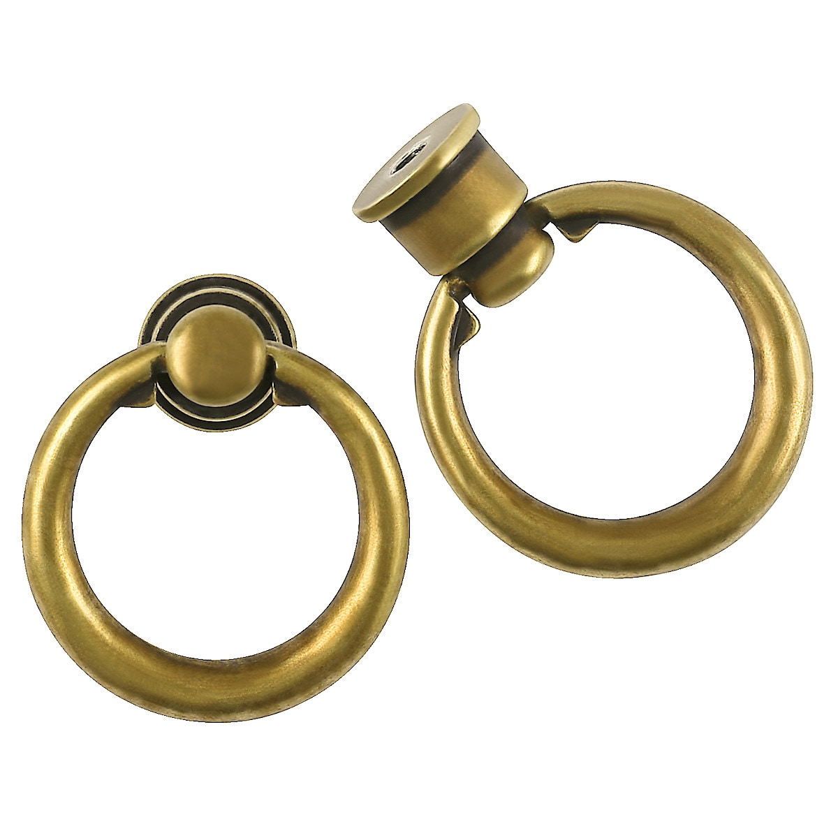 Griff mit Ring, Antikgold
