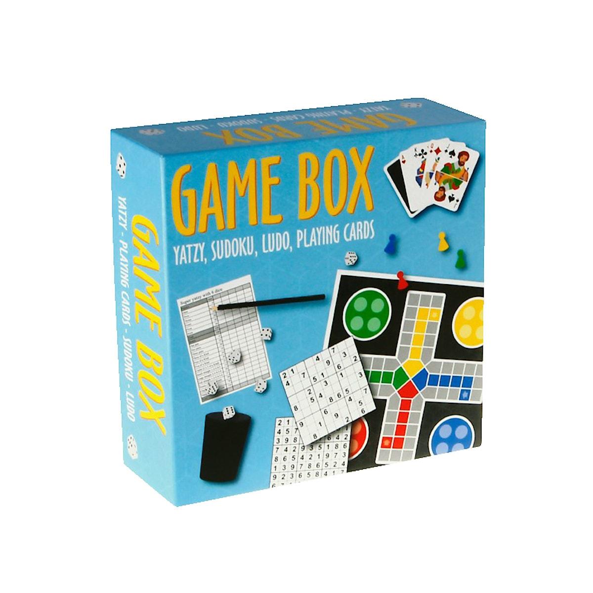 Barbo Game Box med klassiske spill