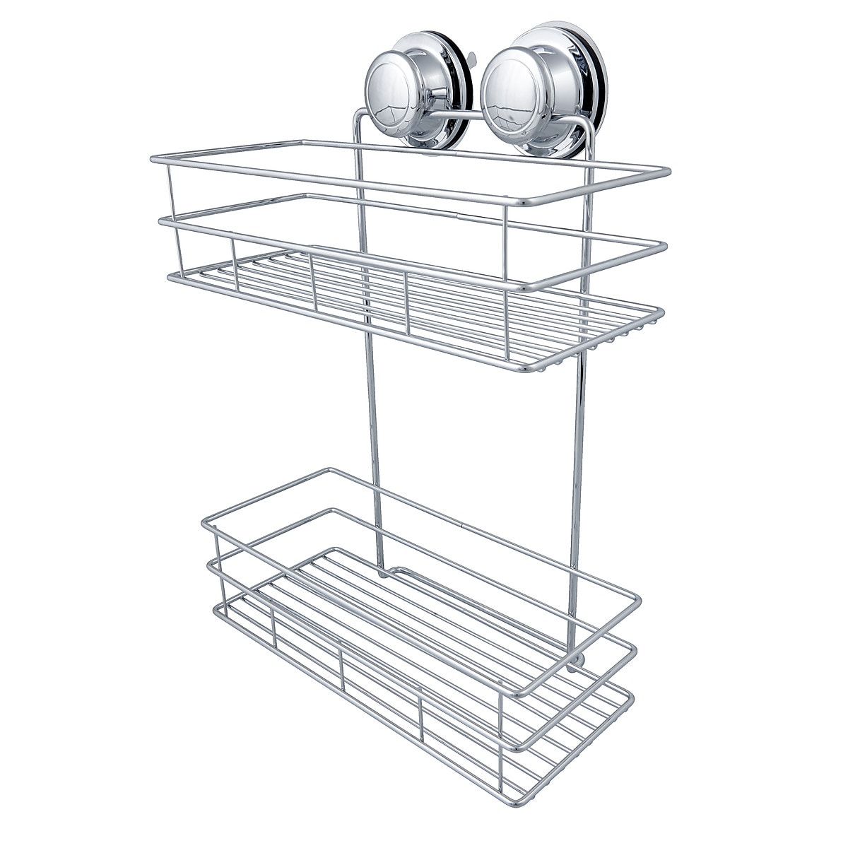 2-Tier Shower Caddy with Vacuum Suction Cup