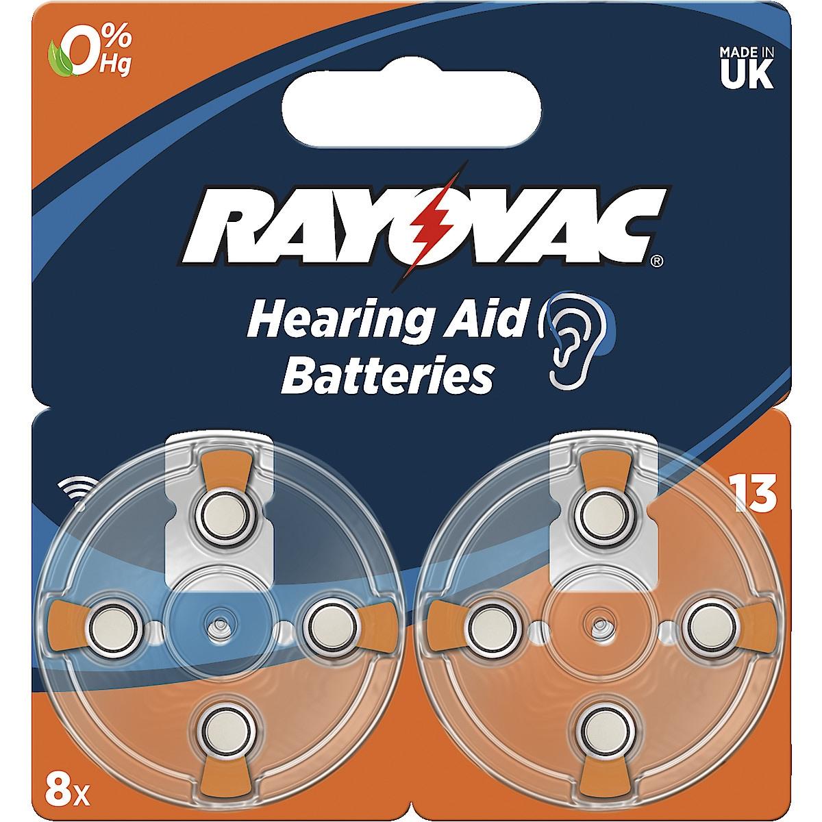 Rayovac 13 høreapparatbatteri