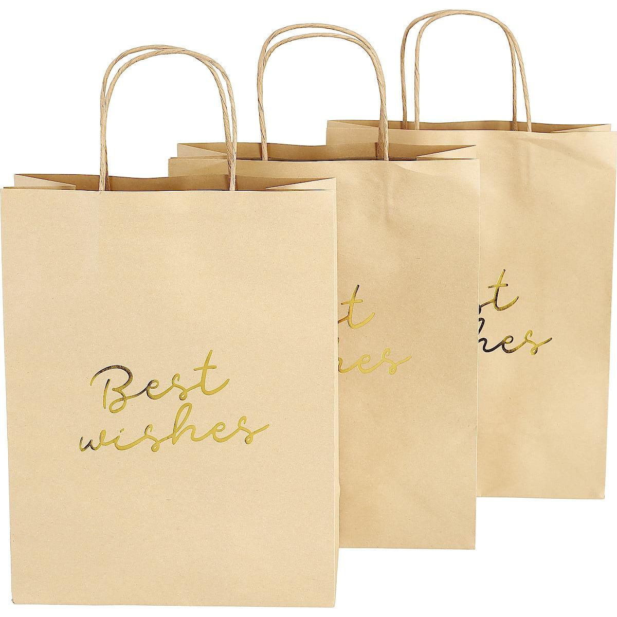 Presentpåsar med handtag, 3-pack