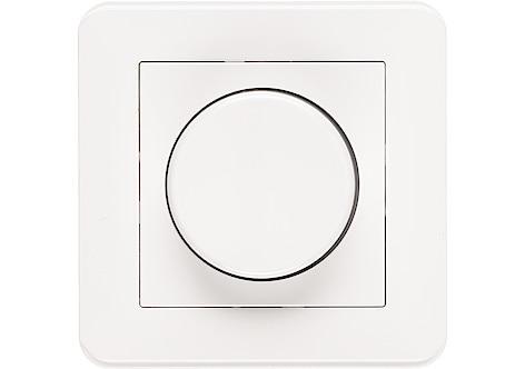 LED-käyttöinen, valkoinen Kuno-työpöytävalaisin USB-portilla matkapuhelimen ym. lataamiseen.