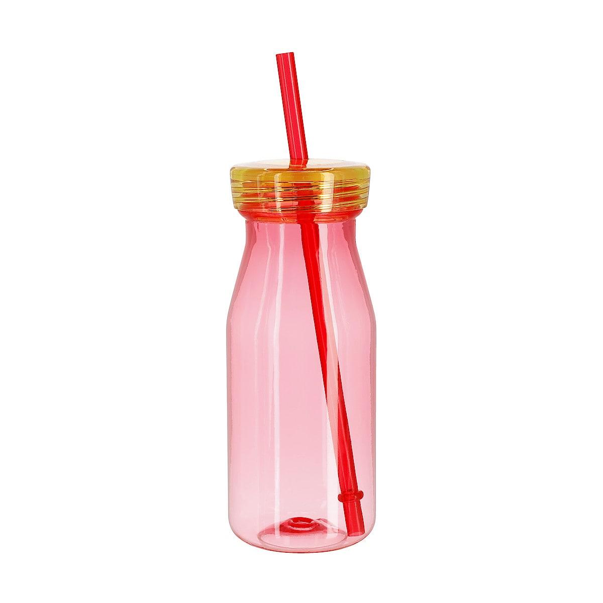 Plastflaske med sugerør