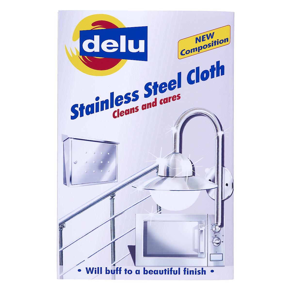 Putsduk för rostfritt stål, Delu
