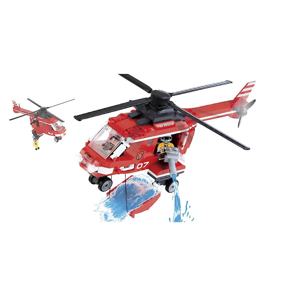Cobi byggeklosser, brannhelikopter