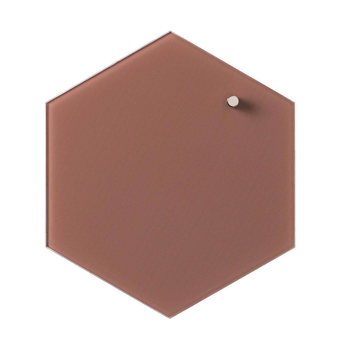 Magneettinen lasitaulu Naga, kuusikulmio, 21 cm