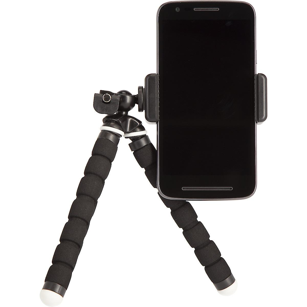 Stativ med holder for mobiltelefon
