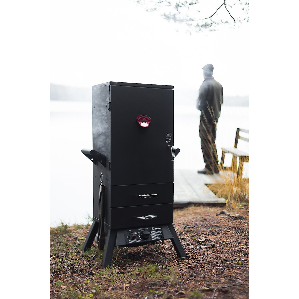 Landmann gassdrevet røykeovn