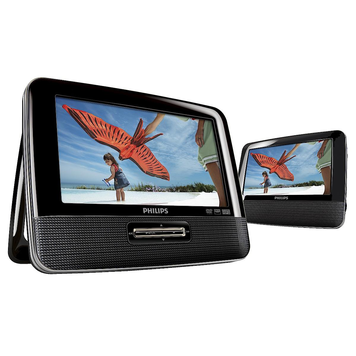 DVD-spelare med dubbla skärmar Philips PD7022