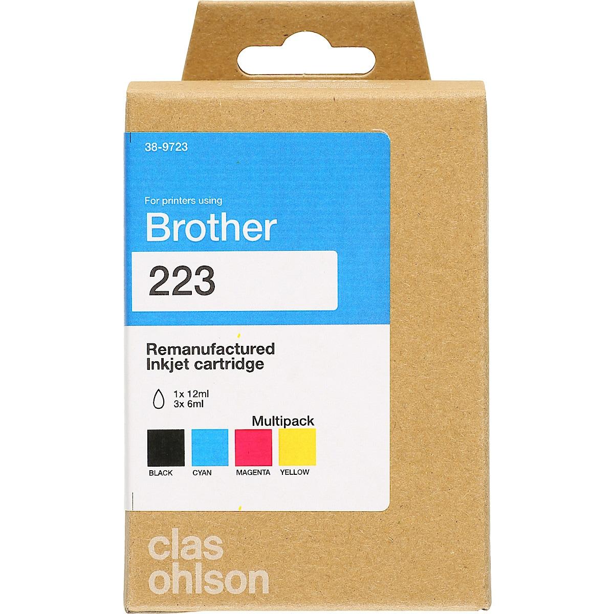 Brother LC 223 bläckpatron multipack XL, Clas Ohlson