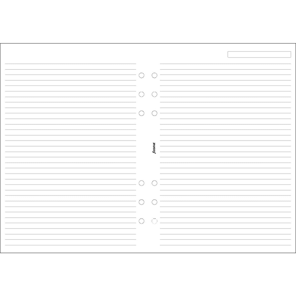 Anteckningsblad Filofax, A5 linjerade