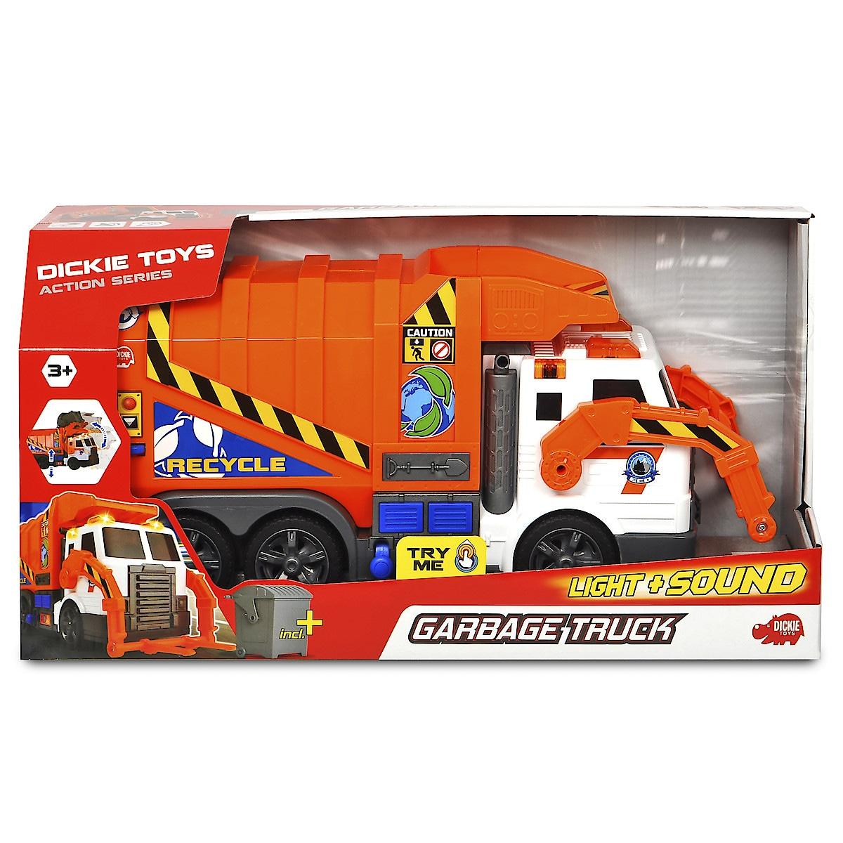 Dickie Toys søppelbil med lyd og lys