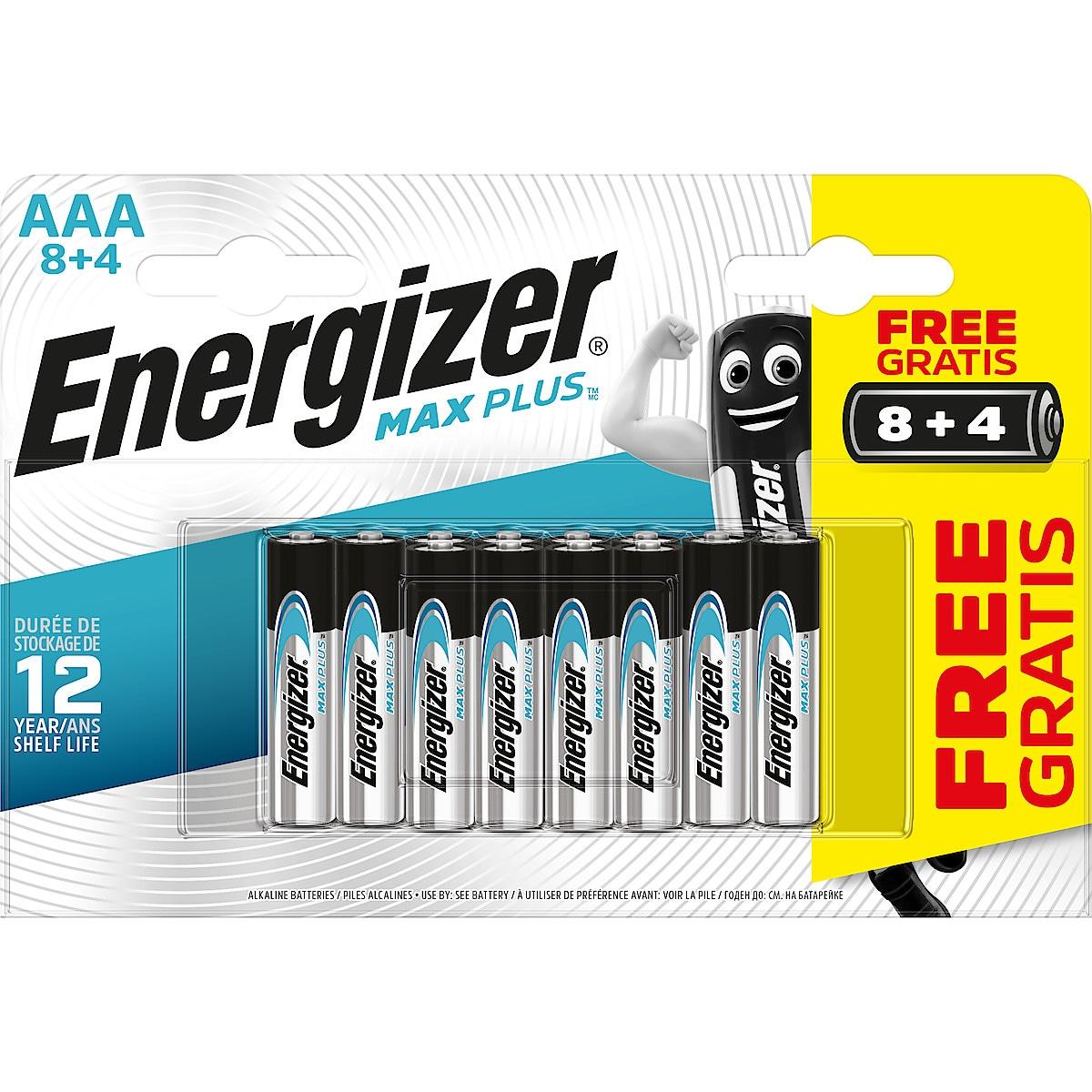 Energizer Max Plus AAA/LR03 alkaliske batterier