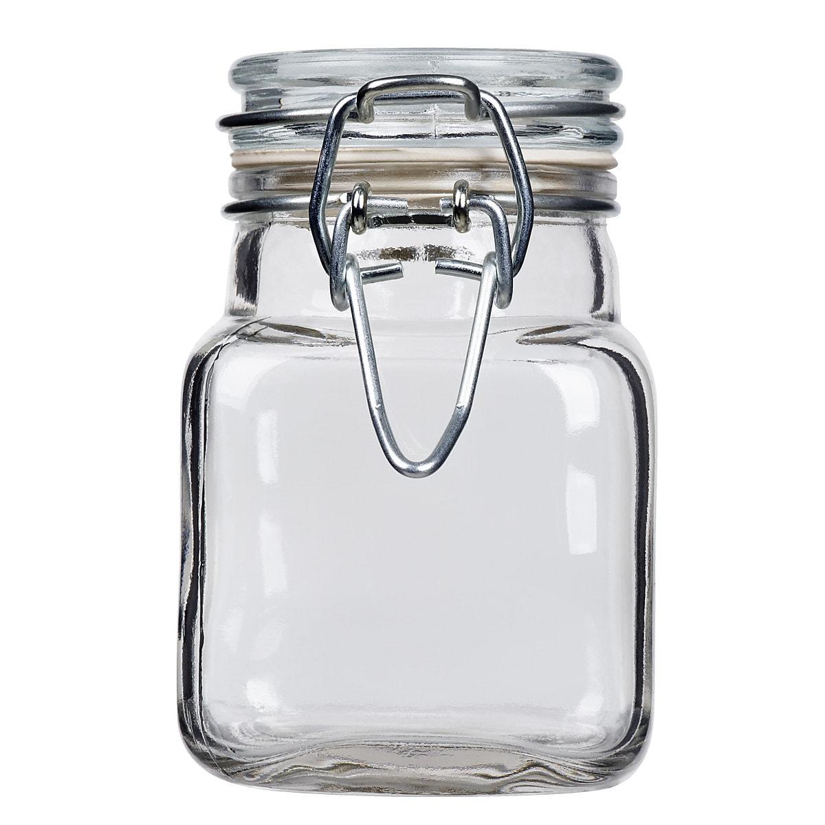 Glasburk med lock