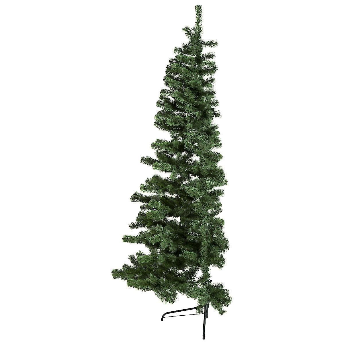 Halvt juletre til plassering mot vegg, 200 cm