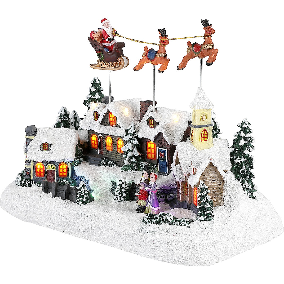 Julby med tomte, renar och släde