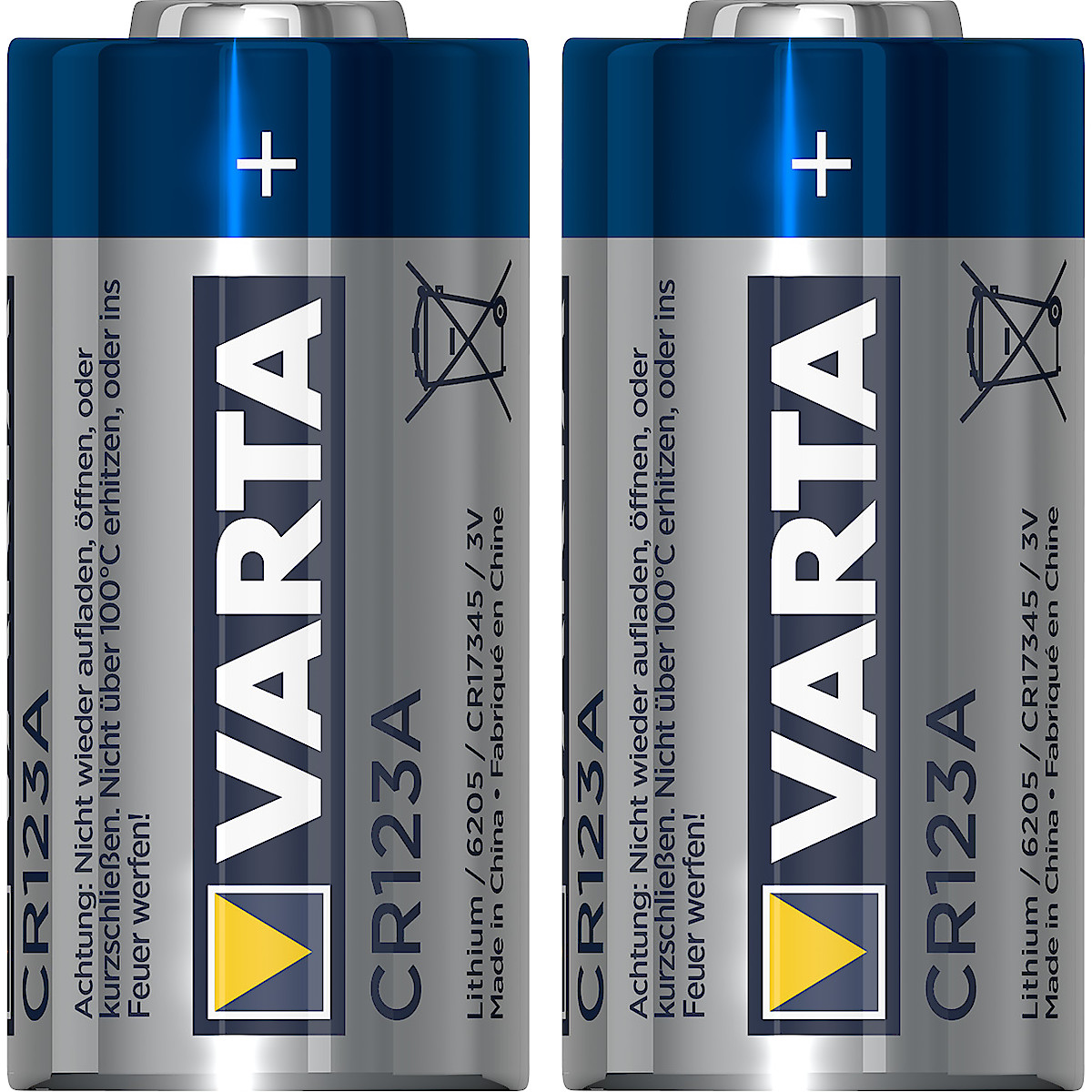 Litiumbatteri Varta CR123A, 2-pack