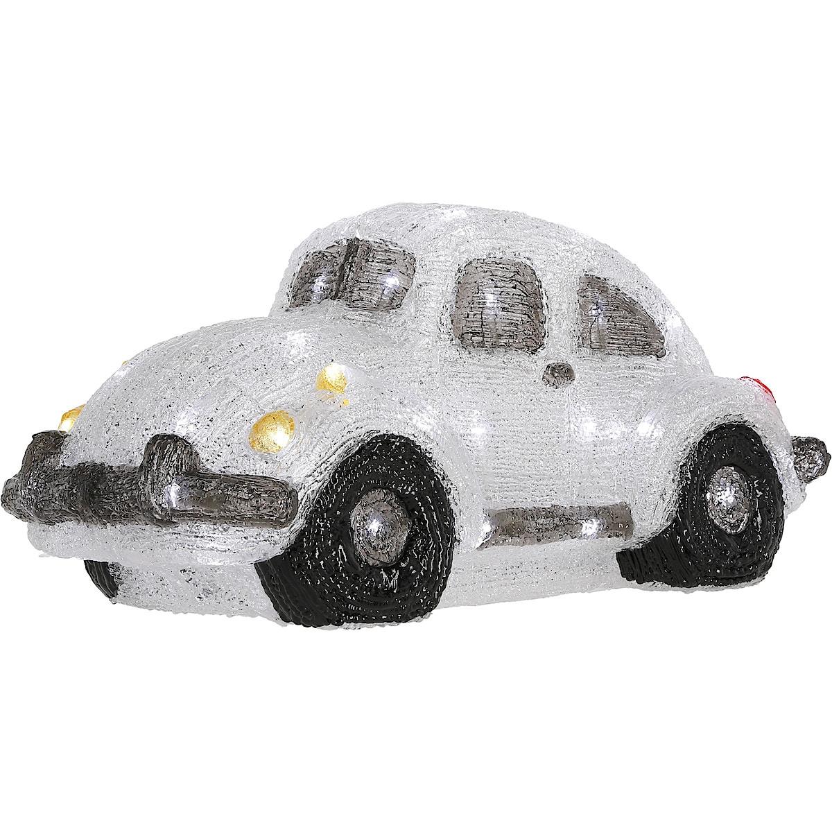 Dekorfigur med belysning, bil