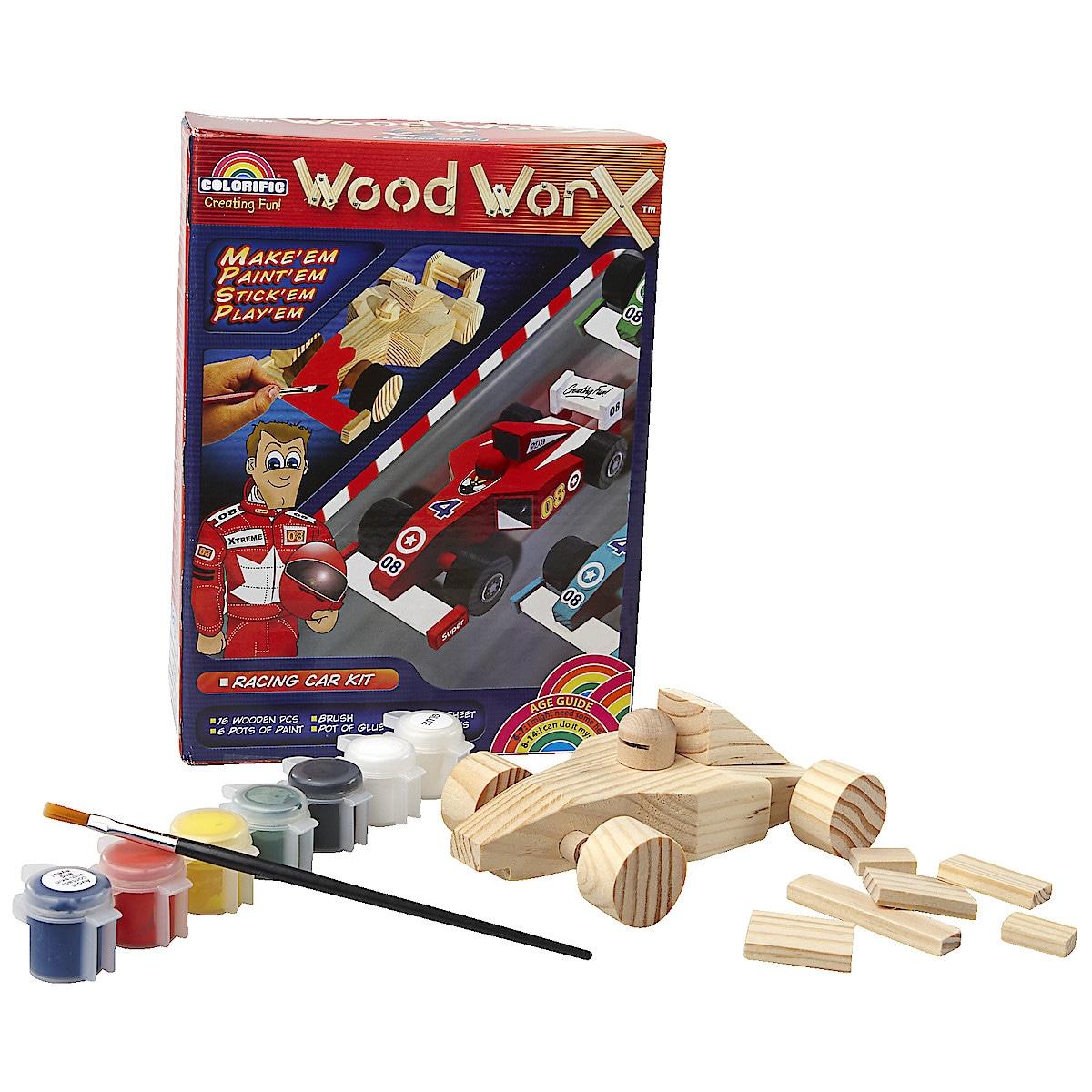 Rakennussarja Kilpa-auto Wood Worx