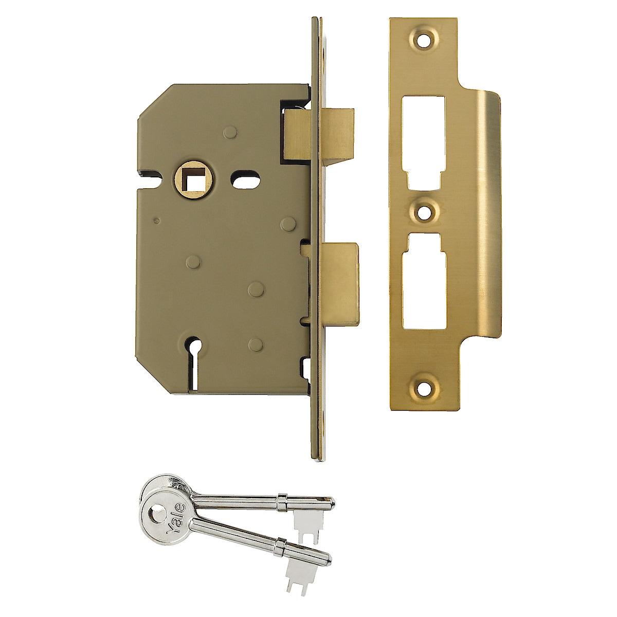 PM320 3-Lever Brass Sashlock