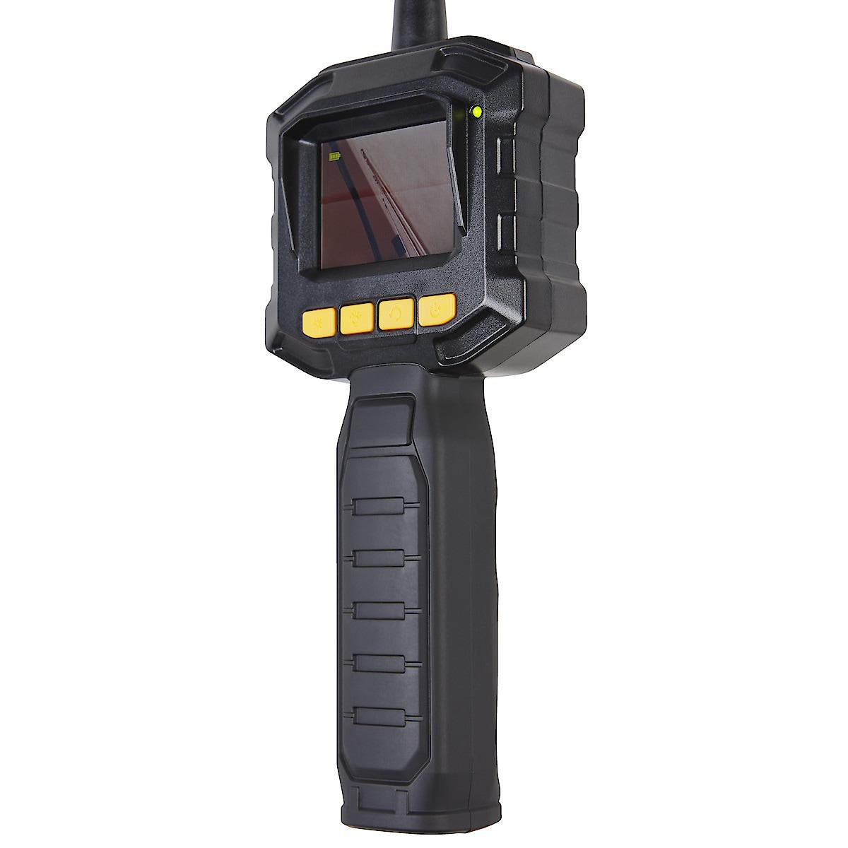 Tarkastuskamera, jossa värinäyttö