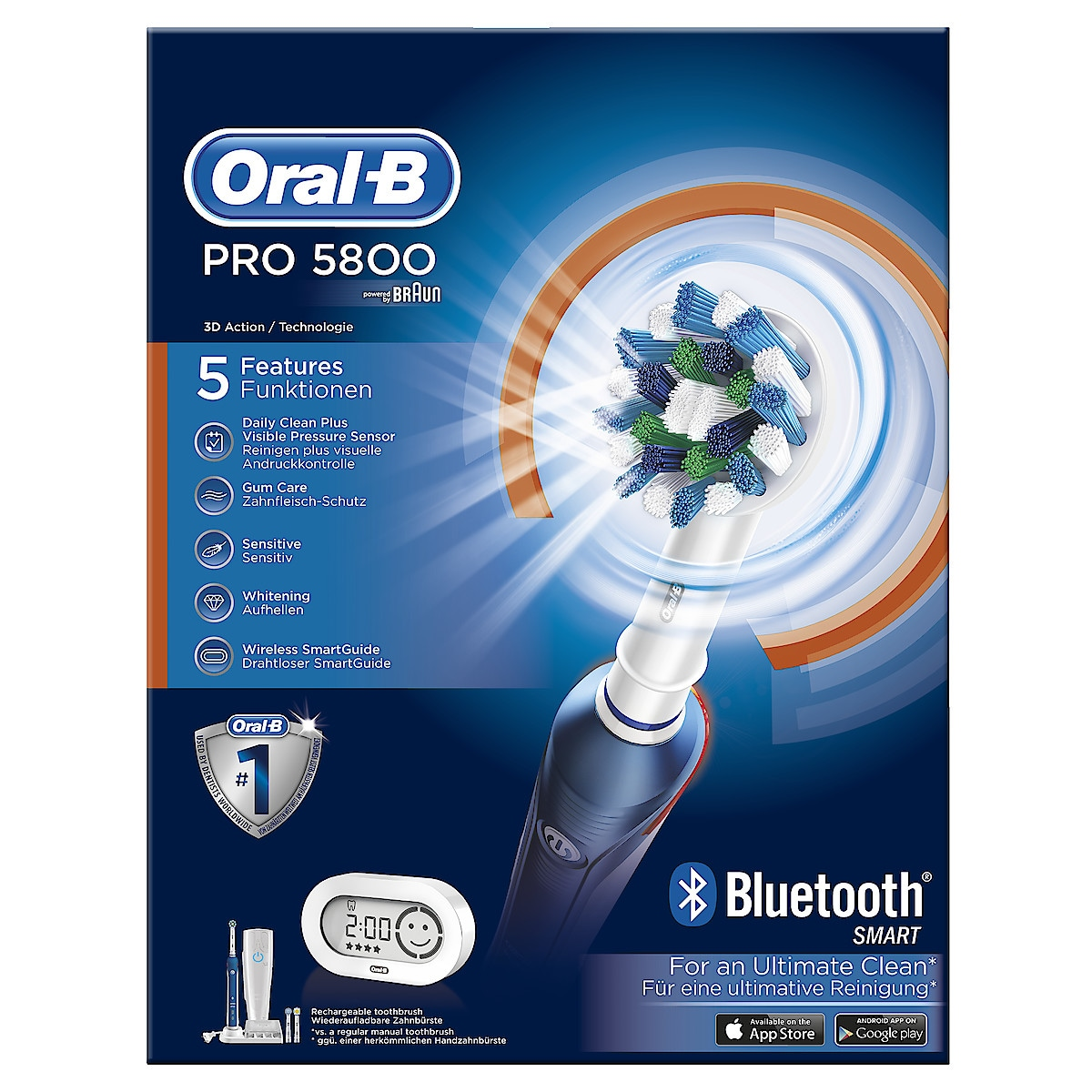 Sähköhammasharja Oral-B PRO 5800 Cross Action Bluetooth