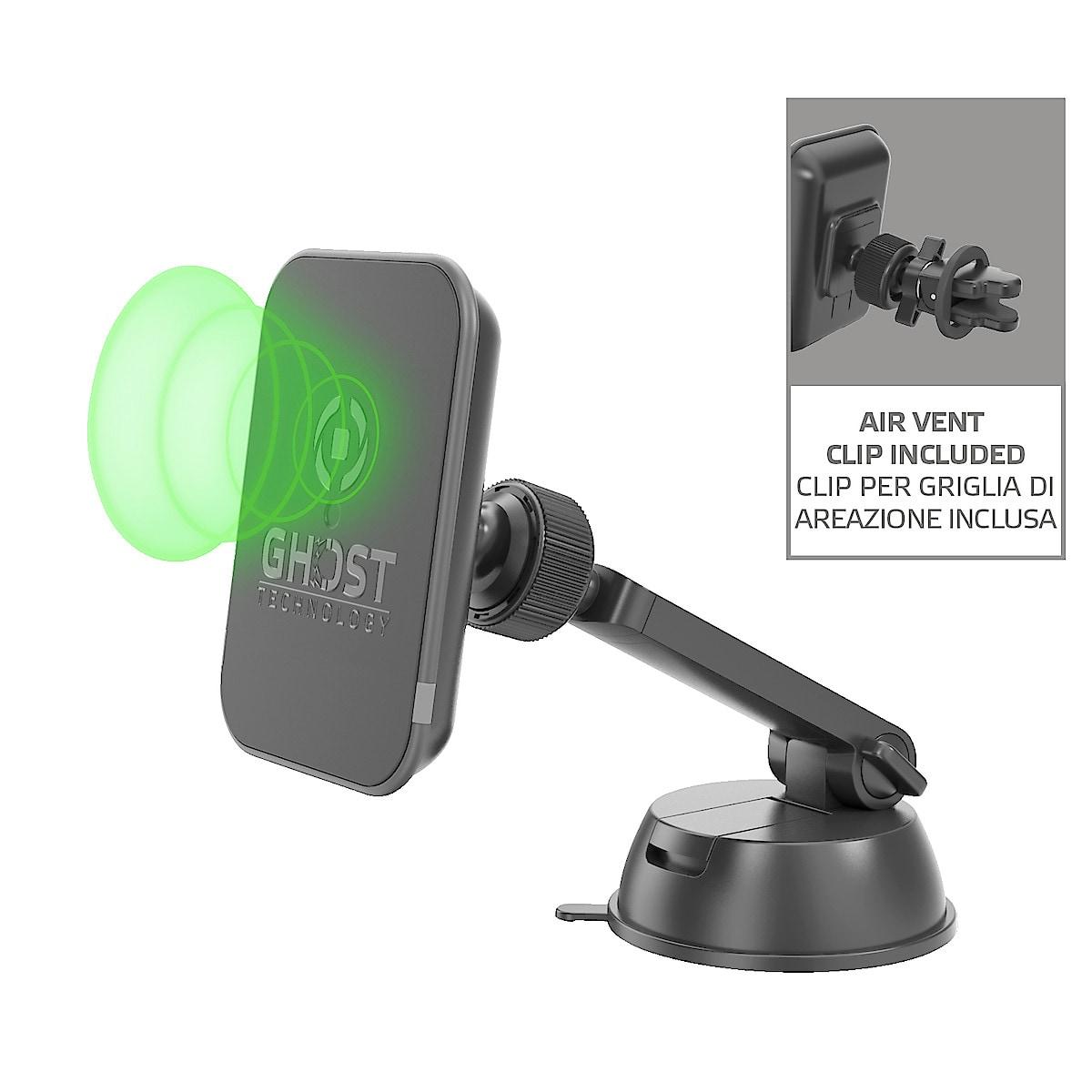 Telefonhållare med trådlös laddning (5 W) Celly Ghostcharge