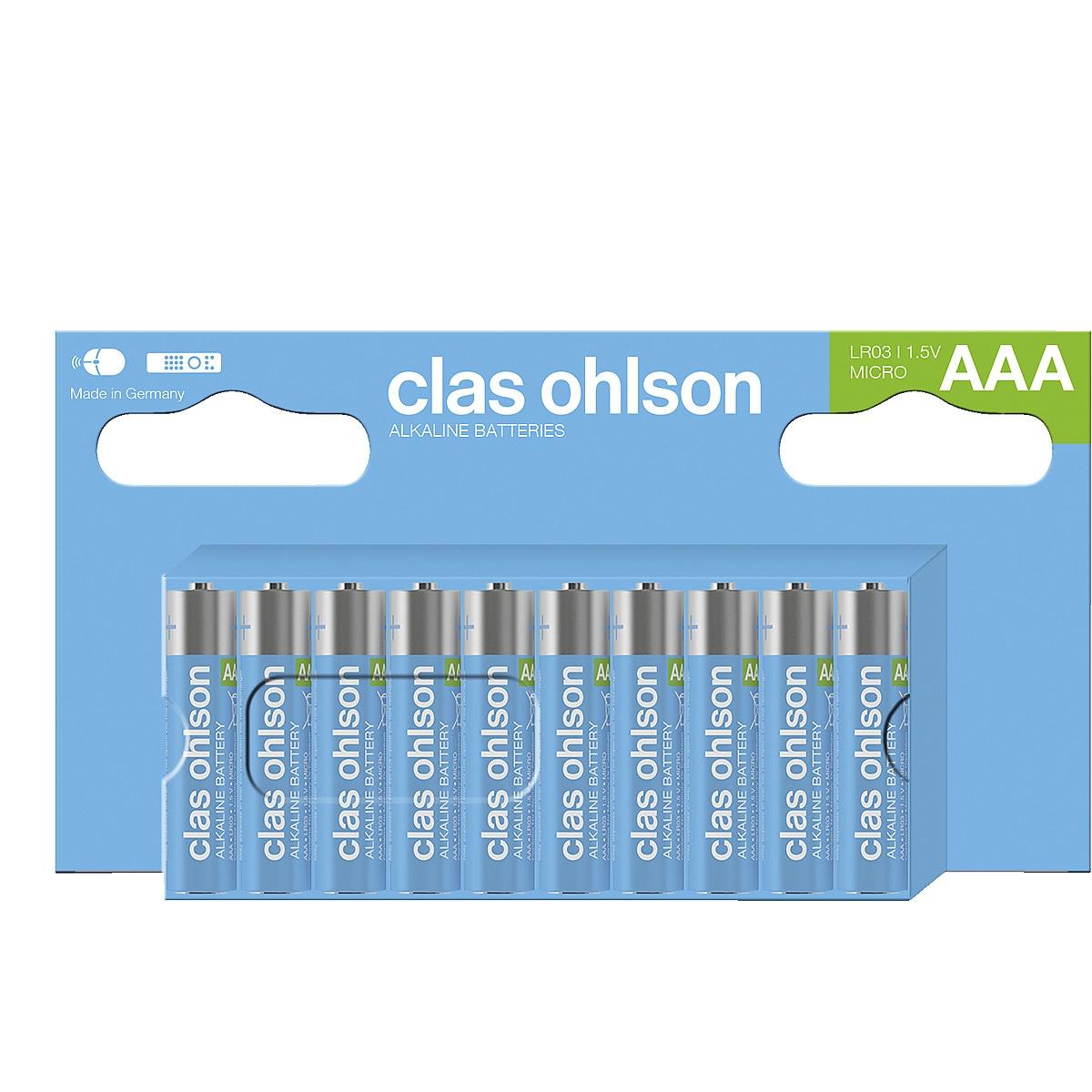 Alkalisk batteri AAA/LR03 Clas Ohlson