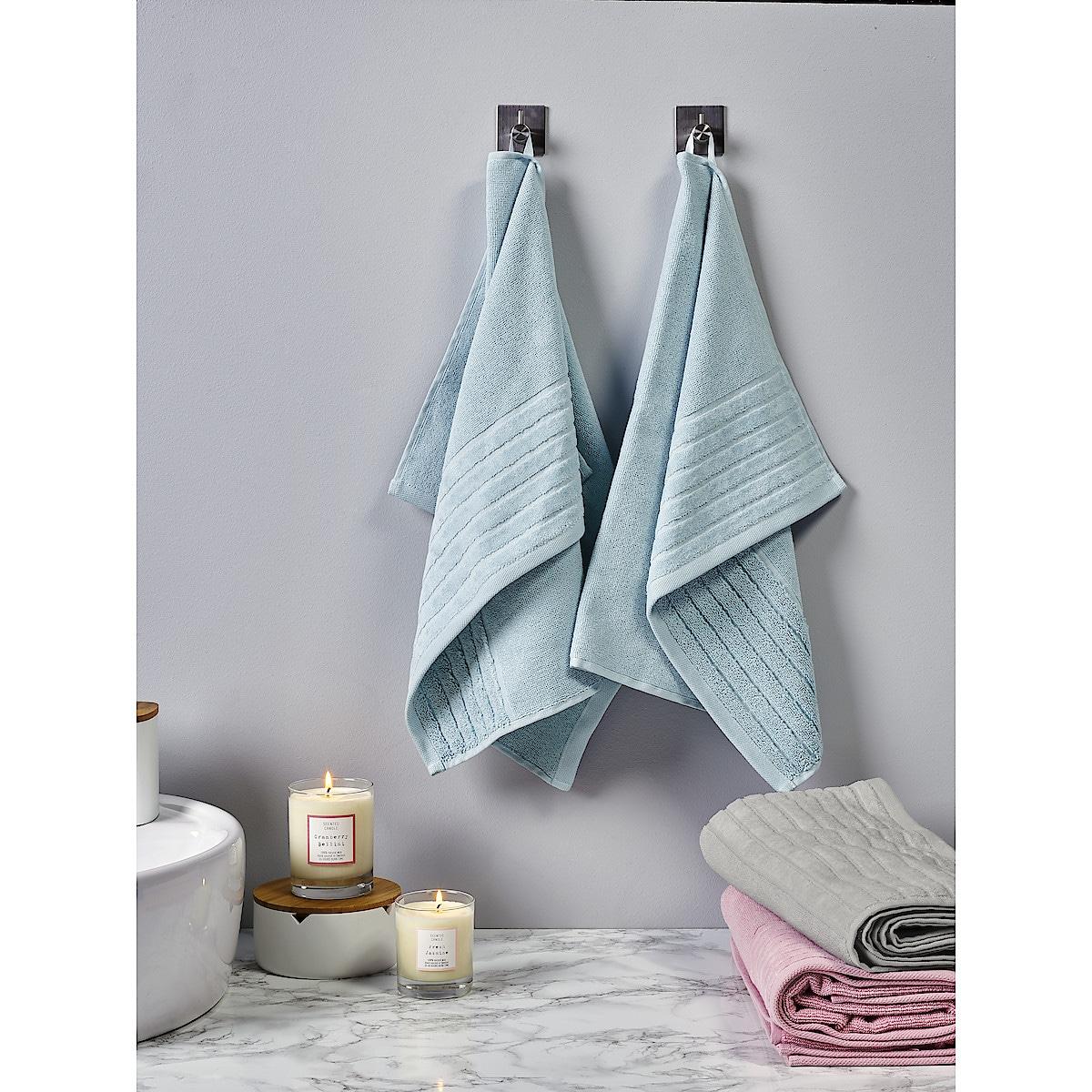 Hand Towel, Aqua