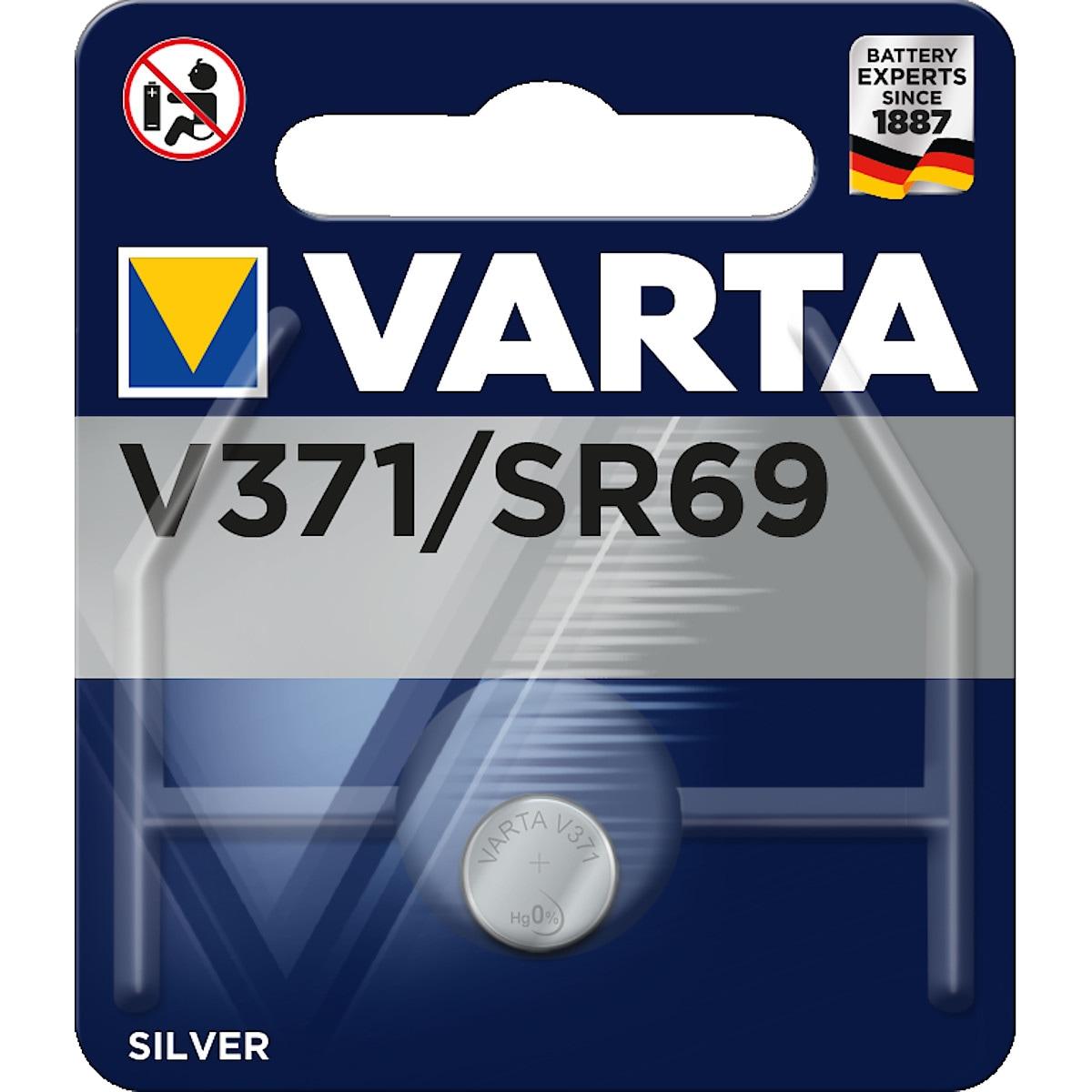 Knappcellsbatteri V371/SR69 VARTA