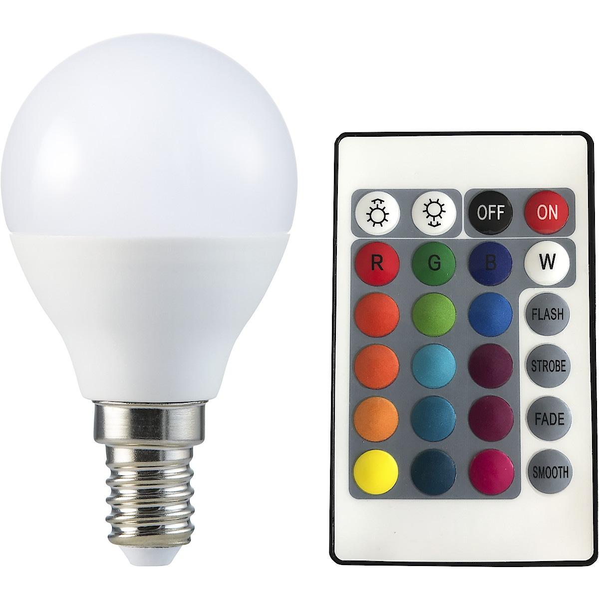 LED-lampa E14 RGB+W