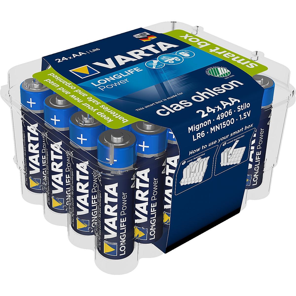 Alkaliskt batteri Varta Longlife Power 24-pack