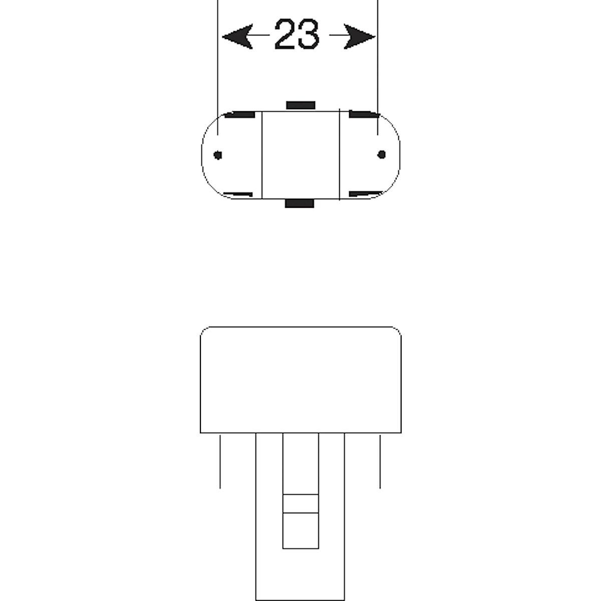 Kompaktlysrör 840 G23 Osram
