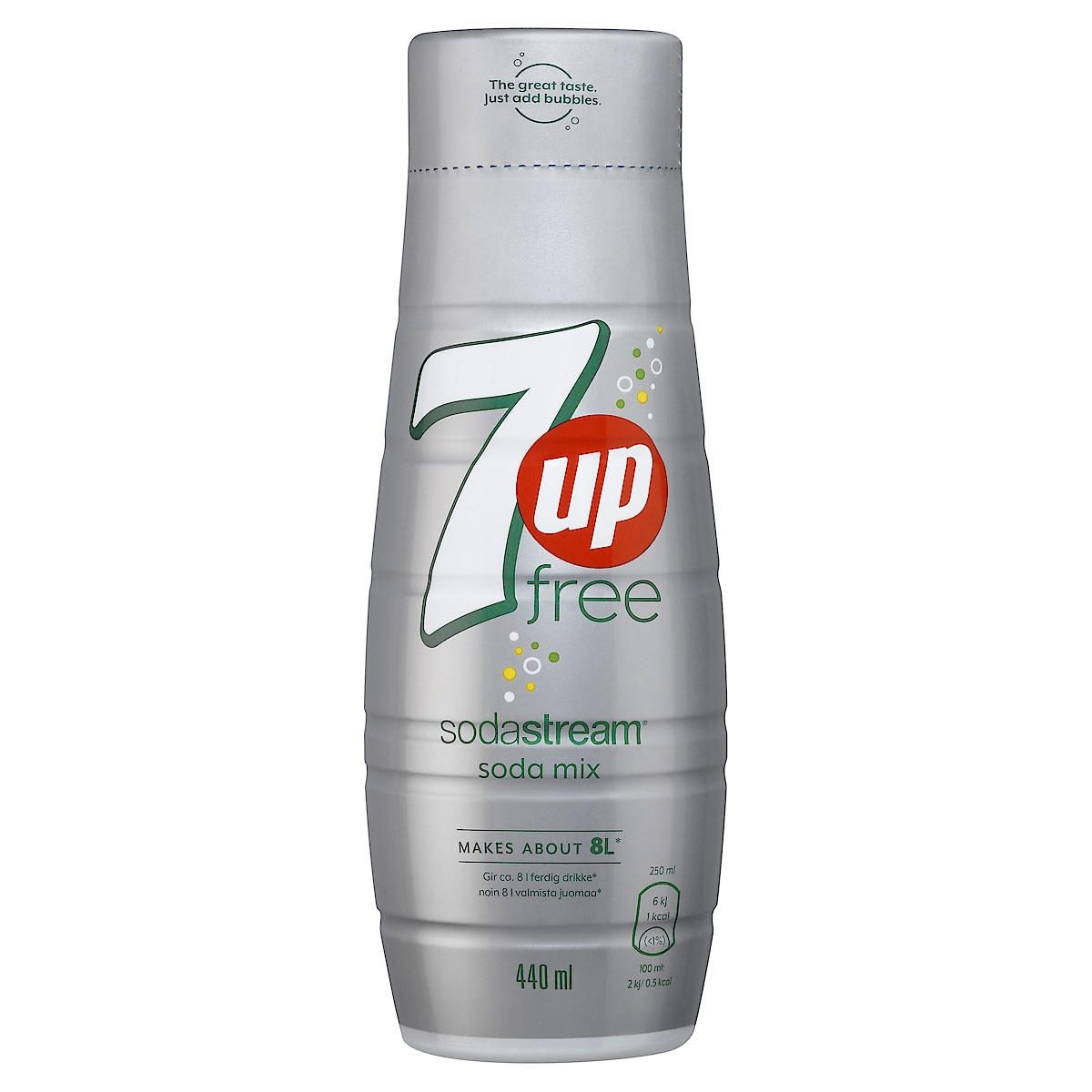 Sodastream Pepsi 7UP Free smakkoncentrat 440 ml