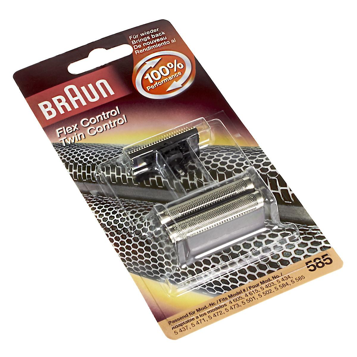 Braun 585, Skjæreblad Flex Control