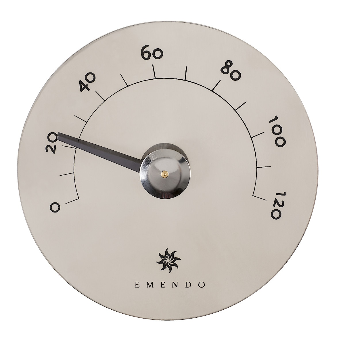 Bastutermometer i stål